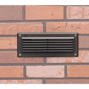 Designed to be integrated into brick walls during construction. Casts a low