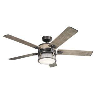 1 Light Ceiling Fan in Anvil Iron