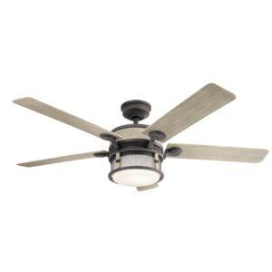 1 Light Ceiling Fan in Weathered Zinc