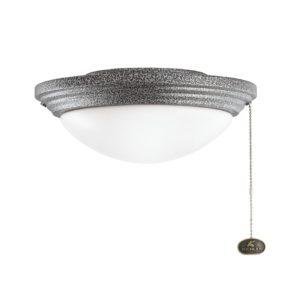 1 Light Fan Light Kit in Weathered Steel