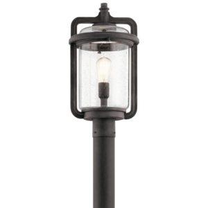 1 Light Outdoor Post Lamp in Weathered Zinc