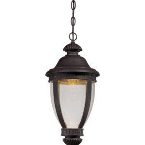 1 Light Outdoor Hanging Lantern in Burnt Rust
